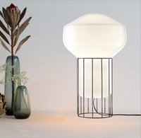 Italy Nordic Light lamp Luxury Art Personality Living Room Bedroom Study Bedside Lamp Window Glass Table