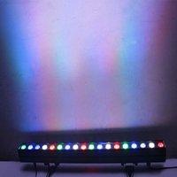 Nero alluminio 18 * 8 watt 4 in 1 cavallo da corsa effetto illuminazione edificio wall rondella lampada a barre party interni lampada da tintura del paesaggio