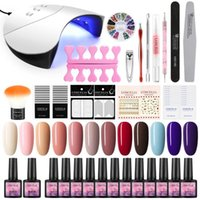 Nail Art Kits COSCELIA 8ml Polish Set 24 36W UV LED Lamp Gel Poly All For Manicure Varnish DIY Tools Kit Salon