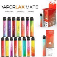 Genuine VAPORLAX MATE Disposable Pod Device E-cigarettes 800 Puffs 500mah 3ml Capacity battery Vape pen Kit
