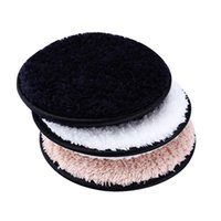 12cm * 1.5cm Home Microfiber Microfiber Makeup Removedor de Toalhas Cleaner Plush Puff Reusável Pano de Limpeza Pads Fundação Ferramentas de cuidados com a pele ZWL262
