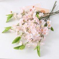 Fleurs décoratives Couronnes 8pcs Blossom de pêche Kunstbloemen Accueil Décoration Voiture Mariage Table Centres de soie Bouquet de soie Artificielles Re