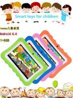Q7 HD Ekran 7 inç 1 + 8g Dört Çekirdek Çocuk Tablet Android 4.4 Wifi Bluetooth Oyuncu Hoparlör Çocuk Bulmaca Öğrenme DHL