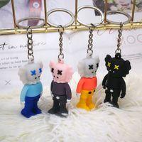 الحلي السمسم شارع كاو ستيريو مفتاح سلسلة الإبداعية مخلب آلة دمية العنف الدب زوجين حقيبة الافتتاح حفل الافتتاح