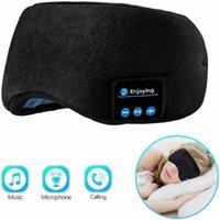 Cushion Decorative Pillow Bluetooth Sleeping Headphones Sports Headband Thin Soft Elastic Comfortable Wireless Music Earphones Eye Mask Drop