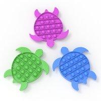 Comida silicona tortuga arco iris camuflaje juguete educativo para niños rata matando pionero