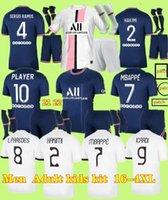 FanPlayer S-4XL 21 22 MBAPPE Fussball Trikots 2021 2022 di Maria Sergio Ramos Hakimi Away MAILOTS DE Football Kit Icardi Verratti Viertel Hemd Männer Kinder