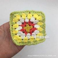 50 stks / partij Handgemaakte Originele 7.5cm Handel Handhaakte Doilies Pad Handmade Cup Mat Photo Props Placemat Decoratieve mat 1919 V2