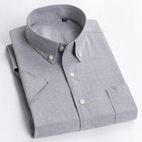 Летняя макросея мужская повседневная твердая рубашка стиль мужская социальная высокое качество 100% хлопковые рубашки с коротким рукавом мужские рубашки мужские вершины