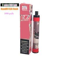 일회용 vape randm 플렉스 플래시 1000 퍼프 E 담배 650mAh 배터리 4ml 용량 장치 대 눈부심 킹