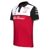 Alfa Romeo Sauber F1 2021 Team Polo Fórmula One Traje de carreras Mejor calidad Camisa S-5XL