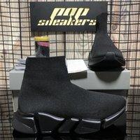 أعلى جودة الرجال النساء الجوارب عارضة الأحذية أزواج سرعات رياضة أسود أحمر الثلاثي s الأزياء شقة جورب الأحذية سرعة حذاء رياضة عداء المدربين