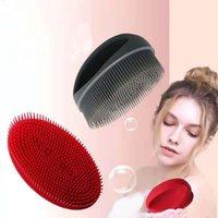 Pennello da bagno in silicone spazzola pulizia strofinare la schiena massaggio artefatto
