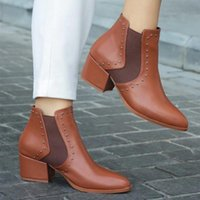 Boots Mio Gusto Brand Kylie Black, Tan, Nude Colors 5Cm Heel Height High Quality Warm Winter Women 's Ankle
