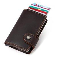 Wallets Johnature Crazy Horse Leather Case Vintage Men Natural Cowhide Fashion Solid Color Wallet Card Holder