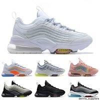 Mens Womens 950 Koşu Ayakkabıları ZM950 Üçlü Beyaz Siyah Çekirdek Neon Gümüş Gri Yüksek Kalite Mens Bayan Eğitmenler Spor Sneakers Boyutu 5.5-11