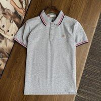 2021 Polos Designer T-sommer europa paris amerikanische sterne mode herren tshirts stern satin 100% baumwolle polo lässig t-shirt männer teen schwarz weiß 01