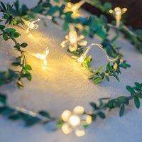 Luces de cadena LED Cherry Blossom Cane Caja de batería USB de la fiesta de Navidad Partido interior y de decoración al aire libre Linterna