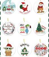 2021 Grinch Quarantin Weihnachtsverzierung Weihnachten Hängende Ornamente Personifizieren für Weihnachtsbaum Dekor Tragen Maske Designer