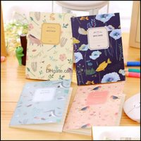 Notes Notepads Business & Industrial4Pcs Set Kawaii Cute Flowers Birds Animal Notebook Painting Of Diary Book Journal Record Office School S