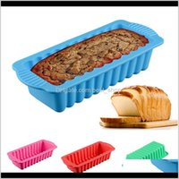 Baking Moulds Bakeware Kitchen Dining Bar Home Garden Drop Delivery 2021 1Pc Sile Rectangular Bread Mold Pastry Tools Vtorten Backen Und Deko