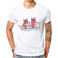 Men's T-Shirts Funny Tshirt Men Short Sleeve O Nock Mens T-Shirt Keep Exercising Monsters Printed Tops Cotton Tees Camisetas Hombre Verano 2