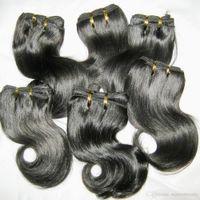 Dark black weaves Africa black skin best matching 7pcs lot Peruvian Full lengths beautiful First human hair body wavy promtions NOW
