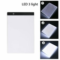 Graphics Tablet A4 LED Drawing Thin Art Stencil Board Light Box Tracing Table Pad Three-level Craft Tools