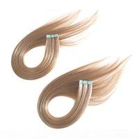 الإنسان الشريط الهندي الشعر في الشعر ملحقات مزدوجة من جانب الجلد لحمة الإنسان ريمي الشعر 120 قطع 300gr الكثير