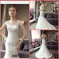 2021 latest style white tulle mermaid wedding dress lace appliques beaded cap sleeve gorgeous bridal gowns court train corset open back sexy summer bride dresses