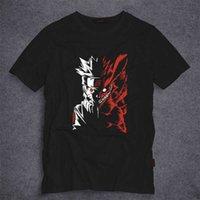 Männer T-Shirts Naruto Kleidung T-Shirt Kurze Koreanische Mode Student Runde Kragen Sommer Halbhülse T-Shirt Cartoon