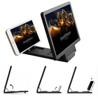 Cell Phone Mounts & Holders 3D Mobile Screen Magnifier HD Video Stand Bracket With Movie Game Magnifying Folding Desk Holder