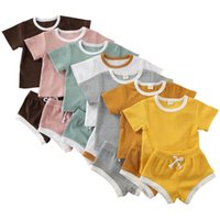 Baby Girls Boys Clothes Cotton Tops Shorts Pants 2Pcs Outfits Infant 12M 24M Casual Wear 1 2 year Newborn Baby Short Sleeve Suit 2343 V2