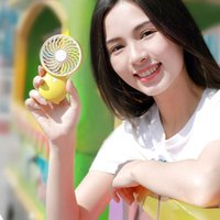 Colorful hands-free cooling mini fan portable LED light for USB charging