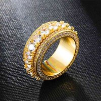 Five rows of zircon rotatable ring