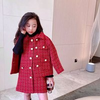 Autumn Sweet Kids Girls Sets Baby jacket with dress 2pcs suits tops children clothes