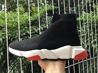 Top Qualité Mode Femmes Chaussettes Chaussures Speakers 1.0 Sneakers Hommes Femmes Designers de Prestige Chaussures Triples Triples Plate-forme extérieure Chaussettes Casual Sneaker avec emballage original