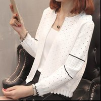 Summer Girls Cardigan Fashion Femmes Pull Tricot Courtielle Causal Top Corée Blanc Cardigans Jumper Femmes Tricoterie Printemps