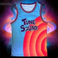 Costume Space Jam 6# Movie Tune Squad Basketball Jersey Set Sports Air Slam Dunk Sleeve Shirt Singlet Uniform 2