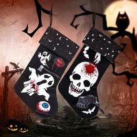 Cadılar bayramı çorap kolye süsleme festivali süslemeleri bez hayalet hile ya da şeker hediye çantası aile hh21-502