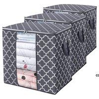 Vliesstoffbeutelkasten Kleiderschrank Kleidung Staubdichte Finishing Faltende Quilt Aufbewahrungstaschen Boxen Einfache Moderne Mode DHF9033