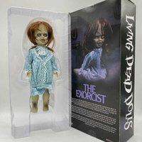 Mezco lebende tote puppen den exorzistischen terror film action figur spielzeug gruselige puppe horror geschenk halloween 28 cm 11inch q0722