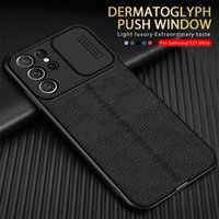 Lychee Pattern Leather Phone Cases For Samsung Galaxy A11 A12 A22 A31 A51 A71 A02S A32 A10S S21 S20 FE Plus Ultra Push Camera Protection Cover