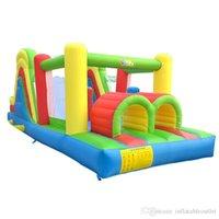 Quintal fábrica residencial salto casa inflável trampolina moonwalk obstáculo curso com corrediça
