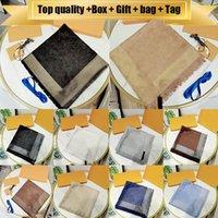 2021 con la bolsa de regalo de la caja Etiqueta 20ss Scarfs de alta calidad para las mujeres invierno para hombre marca bufanda lujo pashmina cálida moda imite lana cachemira bufandas