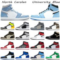 Men Women Basketball Shoes 1s University Blue North Carolan ...