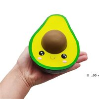 Party favors Squeeze ball New Squishies Simulated Avocado Slow Rising Cream Scented Stress Relief Toys Cute Dolls Squeeze Ball EWD6007