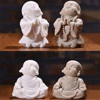 لطيف الراهب الصغير تمثال الحجر الحجر الحرفية رائعتين تايلاند بوذا تمثال حلية جميلة تمثال ل ديكور المنزل الإبداعية هدية