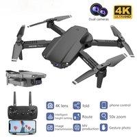 PGY E99 PRO2 RC MINI DRONE 4K 1080P 720P CÁMARA DUAL WIFI FPV Fotografía aérea del helicóptero Quadcopter DRON TOYS