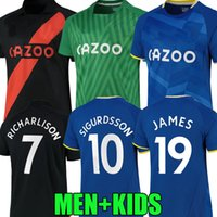21 22 Calvert-Lewin James Soccer Jersey Home 2021 2022 Camiseta de Fútbol Sigurdsson Keane Richarlison Y.Mina Digne Bernard Goleiro Homens Kit Kit Camisa de Futebol